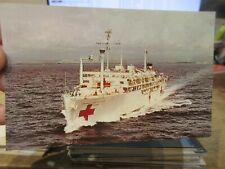 Other Old Postcard Boat Ship Military Battleship Uss Sanctuary Navy Hospital 17