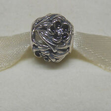 New Authentic Pandora Charm 791419cz  Mystic Floral Clear Bead Box Included