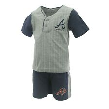 Atlanta Braves MLB Genuine Toddler Size T-Shirt & Shorts Set New With Tags