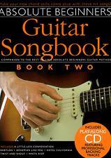 Libro Cancionero guitarra principiantes absoluta 2 hoja de música y CD-compañero Pop Rock