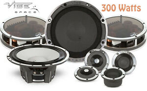 """Vibe Space 5 Car Coaxial 5.25"""" inch 300w Car Door Coaxial Component Speakers Set"""