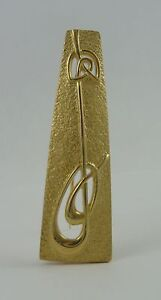 Ola Gorie 9ct Yellow Gold Gael Brooch Pin Boxed Scottish