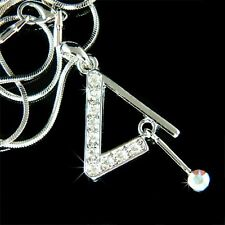 w Swarovski Crystal ~Triangle Striker Percussion Drums Music Instrument Necklace