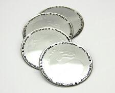 4x 65mm Wheel Center Hub Cap Emblem Badge Decal Sticker Dragon For BMW Silver