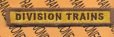 """Armored """"DIVISION TRAINS"""" Armor Tank Cav TAB patch"""