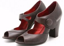 Bronx Womens Shoes Size 8.5 Rita Mary Janes Leather Pumps Heels Retro