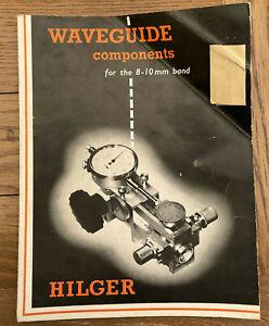 Hilger Waveguide Components 8-10mm band Data Sheets / catalogue