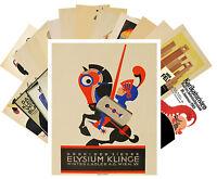 Postcards Pack [24 cards] Julius Clinger Bauhaus Vintage Poster Art Deco CC1031
