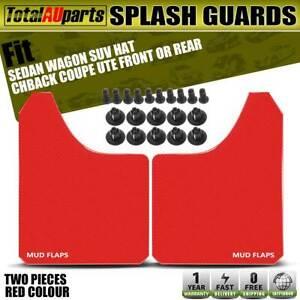 2x Front Rear Red Universal Splash Guards Mud Flap for Volvo V60 V70 XC70 XC90