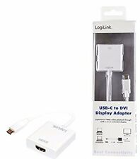 LogiLink USB-C to DVI White - cable interface/gender adapter (USB-C)