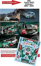 DÉCALS 1/18 réf 899 Skoda Fabia WRC  Schwarz Monte Carlo  2005
