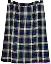 Pendleton Womens Skirt Wool Tartan Plaid Lined Murray Dress Zip Blue Green 12