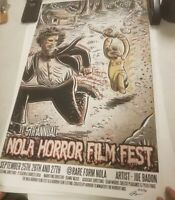 New Orleans Horror Film Festival  Halloween Print 2015 signed and numbered
