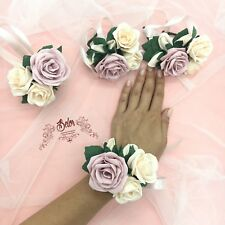 Blush pink wedding corsage Bridesmaid Wrist Corsage Bridesmaid Gift