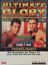 Original Vintage Julio Cesar Chavez vs. Oscar de la Hoya Boxing Fight Poster