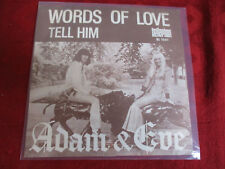 "7"" 45rpm ADAM & EVE Words of Love / Tell Him BELLAPHON BL 1041"