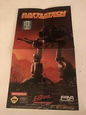 "Battletech Sega Genesis Poster 7.5""x13"" Very Good Condition"