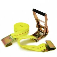 "2"" x 20' ft Ratchet Tie Down with Flat Hook Cargo Strap Quick Thumb Release Ties"