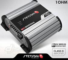 Stetsom Amplifier EX3000 EQ - 3600 Watts RMS 1 ohm Digital Amp Built-In EQ - 3K