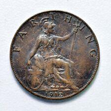 GB GEORGE V BRONZE FARTHING 1912 ++ HIGH GRADE - MS BN / UNC!! ++ [967-13]