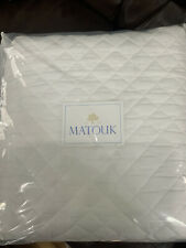 $475 Matouk Italy New Gemma 500Tc Percale King Quilt White Diamond