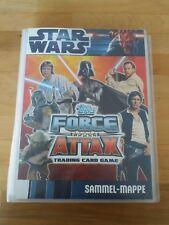 Topps Star Wars Force Attax Sammelmappe Serie 1 (Karten 1-240)+extra Karten