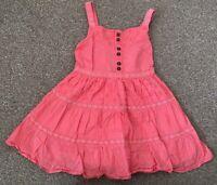 Girls George Orange Strappy Summer Beach Holiday Dress Age 2-3 Years B77