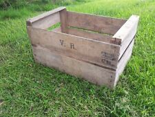 ANTIQUE FRENCH WOODEN FARM SOLID PEAR CRATE BUSHELL BOX VINTAGE SHABBY CHIC
