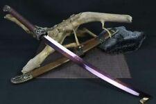 Top Quality Dragon Tiger Dao Broadsword Sword Sharp Damascus Steel Blade Full Ta
