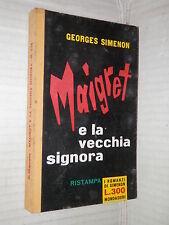 MAIGRET E LA VECCHIA SIGNORA Georges Simenon Bruno Just Lazzari Mondadori 1961