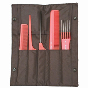 Pro-Tip 5-Comb Hairdresser's Set in Mesh Wallet