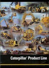 2002 Caterpillar Equipment Product Line Dealer Brochure Dozers Backhoes Trucks +