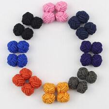 Men Shirt Cufflinks Chinese Knot Buckle Fashion Handmade Braided Wire Cuff Links