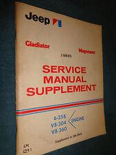 1971 JEEP GLADIATOR / WAGONEER ENGINE SHOP MANUAL / ORIGINAL J-SERIES BOOK