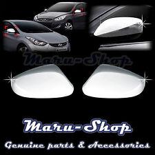 Chrome Side Rear View Mirror Cover Trim for 12~ Hyundai Accent/i25/Solaris/Verna