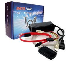 "Cable Adaptador Conversor IDE y Sata Disco Duro 2.5"" 3.5"" USB KIT COMPLETO 2420"