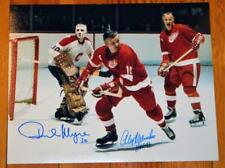Montreal Canadiens Detroit Red Wings Photo Signed Alex Delvecchio and Phil Myre!
