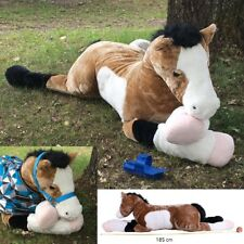 Weiches großes Kuscheltier Plüschtier Plüschpferd Stofftier XXL Pferd Pony 185cm