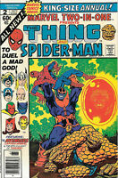 Thing and Spider-Man #2 VF King-Size Two-in-One Marvel Comics Annual 1977