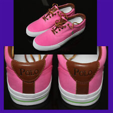 POLO RALPH LAUREN Canvas / Leather SNEAKERS (9.5)