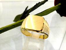 bague chevalière  or jaune 18k  750/1000 gold