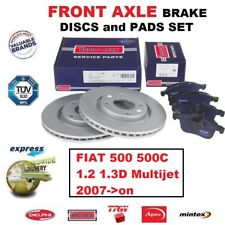 FOR FIAT 500 500C 1.2 1.3D Multijet 2007->on FRONT AXLE BRAKE PADS + DISCS 240mm
