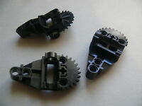 Lego 3 engrenages noirs set 8500 8502 8523 8521 / 3 black Technic, Gearbox Half