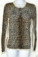Dolce & Gabbana D&G leopard animal print Cardigan Sweater Size 42 US 6