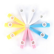 10Pcs Plastic Kazoo Harmonica Mouth Flute Kids Party Musical Instrument  Gn