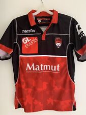 Maillot rugby Lyon LOU olympique universitaire Macron jersey shirt polo