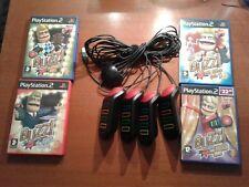 Playstation 2 ps2 zumbadores grande prueba música deportes el MEGA CONCURSO Buzz