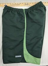 NIKE Men's Athletic Board Shorts Swim Trunks Green On Green Size Large Polyester