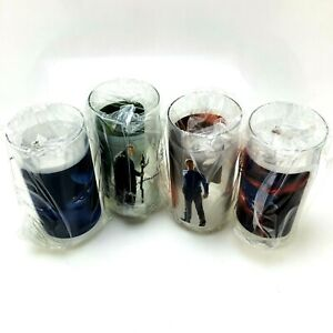 2008 STAR TREK MOVIE Set of 4 Collectible Drinking Glasses | Burger King | Boxed