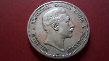 5 Mark Silber Kaiserreich; Wilhelm II. Kaiser u. König v. Preussen 1891 - VZ !